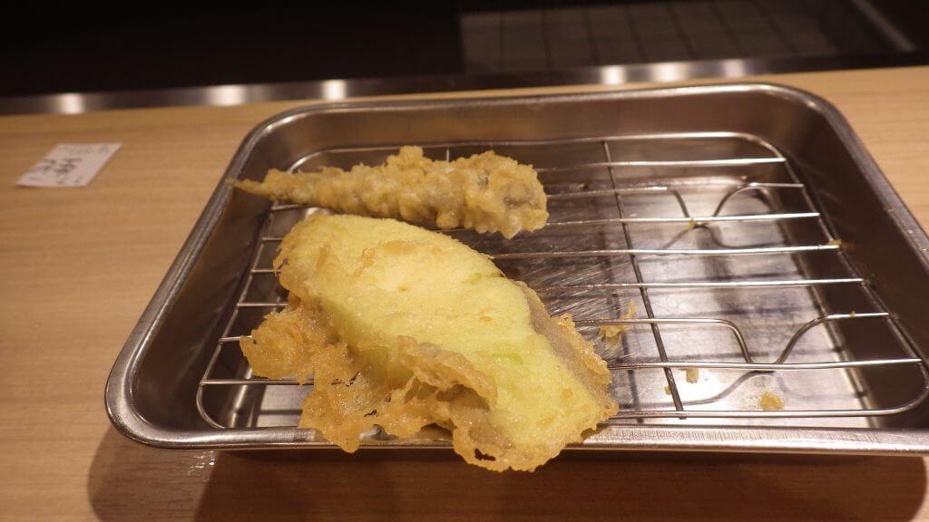 天ぷら ひらおのナス。ジューシー!