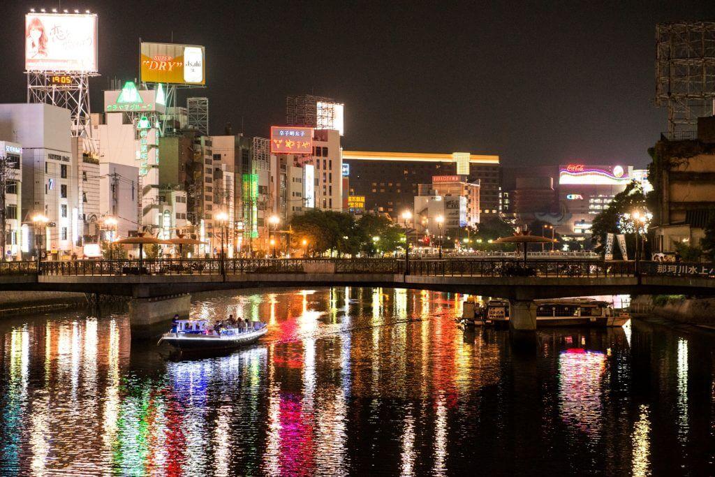 福岡旅行 中洲の夜
