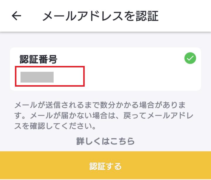 バンドルカード メールアドレス認証