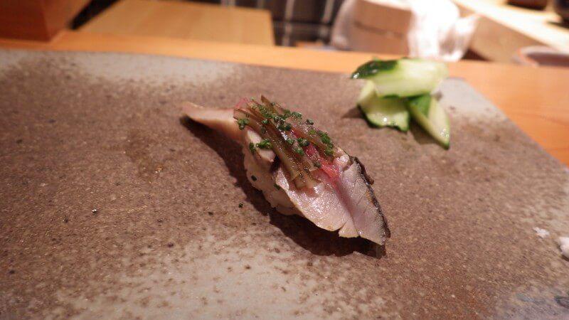 天寿し シメ鯖